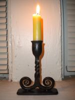 Teeny candle stand by CuSmith