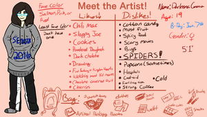 Meet the Artist MEME by DarleeneTheGenie