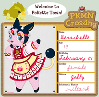 Poke'mon Crossing - Berribelle by DaMee-Momma