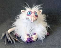 Snow the albino hatchling dragon doll by BeastVoodoo