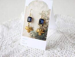 Jungle Blue Earrings by GingerKellyStudio