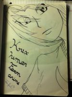 Knuckles human form Anime by knuxsunz