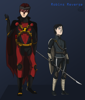 Robins Reverse: Red Robin and Talon by InsaneMonkey46