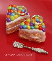 Rainbow Sprinkle Cake Charms by gppr
