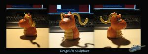 Dragonite Sculpture Bust by The-Bluetip