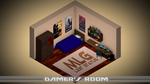 Isometric Gamer's Room by aGenWhItE