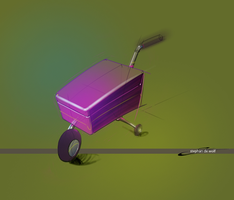 Luggage kart by w0lfb0i