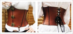 :: steampunk corset :: by Lady-Liara