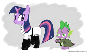 Dr. FrankenSparkle and Monster by StaticWave12