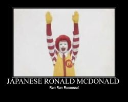 Japanese Ronald Mcdonald by WilliamJBoone