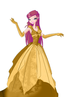 Roxy Golden Gown by Supremechaos918