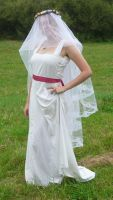 bride on a field - veil 2 by indeed-stock