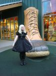 Gothic Lolita at the Mall by NozomiWhiteWolf