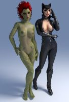 Poisonlicious x Catwoman sexier by DragonLord720