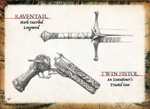 Weapon Designs for Tale of the Slayer by Araknophobia