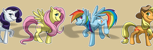 Stickers: My Little Pony: Friendship is Magic Set1 by forte-girl7