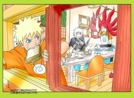 Just Another Morning at the Uzumaki Family! by PeachBerryDivision
