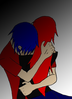 Kaito and Ookami by wolfgirl76543