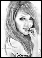 hilary duff portrait by vipinkabadi