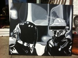 Daft Punk Commission by purposemaker