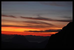 Sunrise at Dachstein 3 by Narsilia