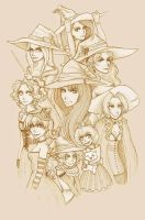 Witches of Final Fantasy by Lunael