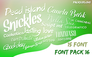 FONT Pack (4) by IremAkbas
