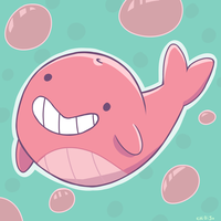 CP: Tiny Floating Whale by ChibiSo