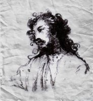 Velazquez Sketch Christ Detail by SILENTJUSTICE