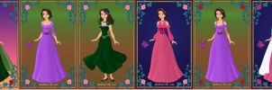 New Dress Designs for Rapunzel by ArielxJim08