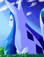 Painting: Shiny Glaceon by Glyon
