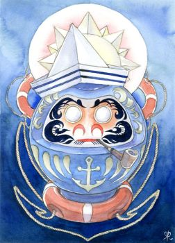 Sailor Daruma Doll by pilvimeri