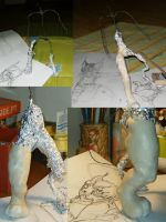 first fimo sculpt part 1 by minihumanoid