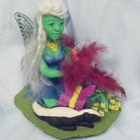 OOAK Spring Fairy sculpture by CreativeCritters