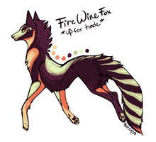 Fire Wine Fox up for TRADE CLOSED by Hauket