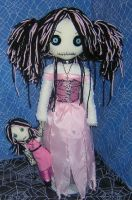 Pink Ratty Rag Dolls by Zosomoto
