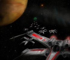 The Battle of Yavin by LUMIY4
