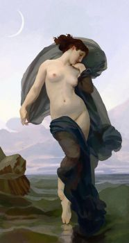 Bouguereau, 'Evening Mood' by TammyArt