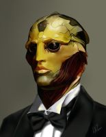 Mass effect 2 Thane Krios by Layerx3
