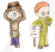 Rorschach and Walter Kovacs by EldritchDragonfly
