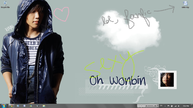 Wonbin Wallpaper by xlilhammx