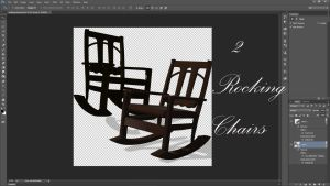 Two Rocking Chairs 3D by ArthurRamsey
