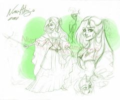 Sketch Ozma of Oz by nuriaabajo