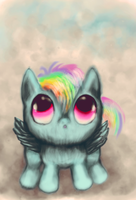 Baby Rainbow Dash by ButtonsTheCatt
