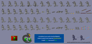Remodeling Mecha-godzilla Nes Sprite Sheet by zillagamer
