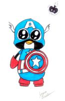 Captain Penguin of America xD by gummigator