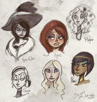 DW: Young Ladies sketches by Alias-Hugo
