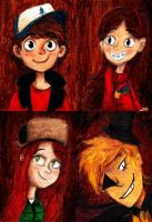 Gravity Falls Oil Portraits by Meorow
