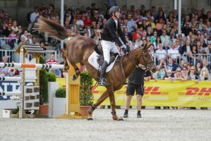 3DE Show Jumping Landing Phase Stock 59 by LuDa-Stock