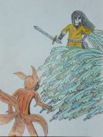 4-Tails fight colored by Ram3nLuvr666